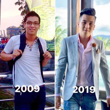 Không chỉ khoe ngoại hình thay đổi của mình qua một thập kỷ về kiểu tóc, thời trang, có những người đã hoàn toàn dậy thì thành công.