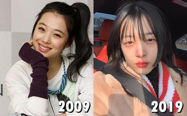 Sau một thập kỷ, công chúa SM Sulli vẫn trẻ đẹp nhưng hình ảnh đã không còn trong sáng, ngoan hiền như xưa nữa.