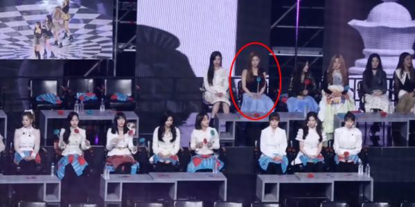 Tại GDA 2019, nhiều fan để ý tới tâm trạng buồn bã của Mi Yeon khi xem Black Pink biểu diễn. Cô nàng chỉ ngồi yên một chỗ nhìn xuống phía dưới, không hề mỉm cười hưởng ứng đồng nghiệp. Trước đây, Mi Yeon từng nằm trong đội hình pre-debut của Black Pink nhưng cô đã rời công ty vì lý do cá nhân.Chứng kiến vẻ mặt như thất tình của Mi Yeon, các fan cho rằng có thể côđang nhớ lại những kỷ niệm đẹp hoặc tiếc nuối vì đã không thể ra mắt với tư cách thành viên nhóm nhạc nữ nổi tiếng nhà YG.