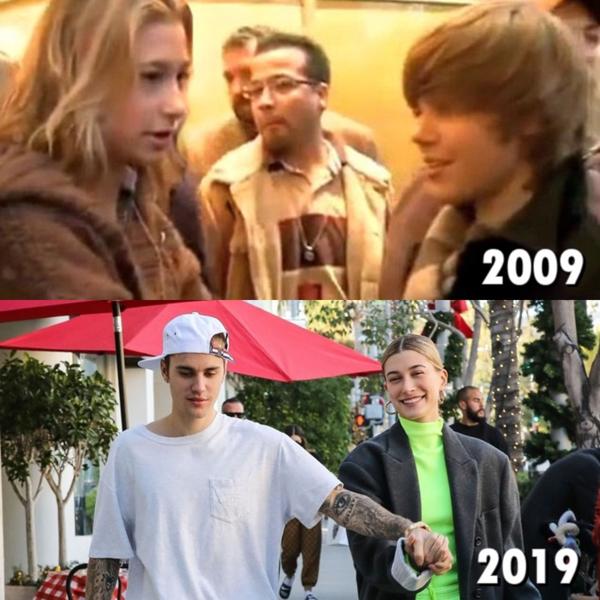 Không ai ngờ rằng 1 thập kỷsau lần đầu gặp nhau năm 2009, Justin Bieber và Hailey Baldwin đã là... vợ chồng. Thời điểm đó, Hailey đích thực là fangirl may mắn khi đượcgặp gỡJustin ở hậu trường concert. Cô nàng thậm chí còn là shipper của cặp Jelena đình đám. Ấy vậy mà định mệnh đưa đẩy khiến Hailey giờ đã trở thành tình yêu cuộc đời của anh chàng Justin đào hoa.