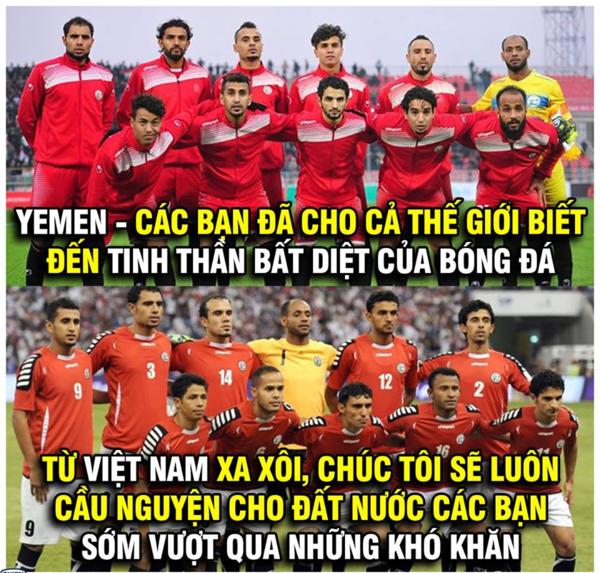 Người hâm mộ Việt Nam gửi lời chúc tới đội bạn.