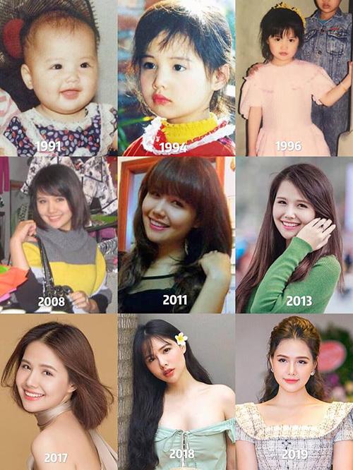 Phanh Lee chứng minh nhan sắc đẹp trường tồn từ nhỏ đến lớn.