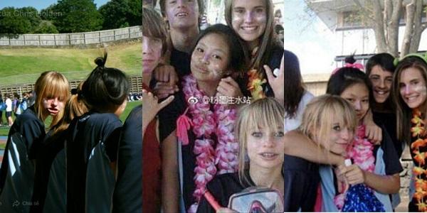 Nếu vẫn chưa tin đó là Jennie thì đây là một dữ liệu trùng hợp lạ kỳ khác: Cô gái tóc vàng phía bên trái không ai khácchính là bạn thân Jennie trong thời gian cô học tại New Zealand. Cô gái này từng xuất hiện trong nhiều bức hình quá khứ của Jennie mà netizen đã soi được khi Black Pink mới debut.