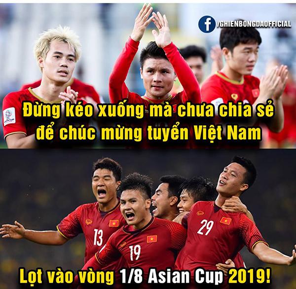 Việt Nam vào vòng 1/8, ảnh chế tràn ngập cảm ơn người anh em Triều Tiên
