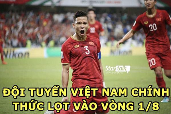 Việt Nam chính thức lọt vào vòng 1/8.