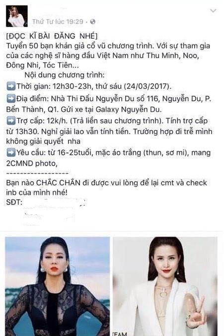 Bài đăng tố Đông Nhi thuê fan.