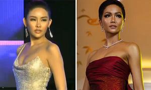 Lộ miếng dán ngực - lỗi hay gặp của người đẹp Việt khi thi sắc đẹp quốc tế