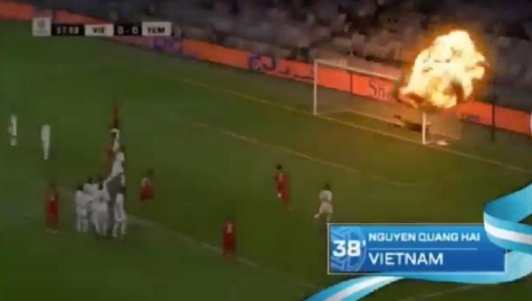 Bị chỉ trích, AFC gỡ bỏ clip cú sút phạt tên lửa của Quang Hải\