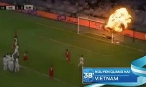 Bị chỉ trích, AFC gỡ bỏ video chế cú sút phạt 'tên lửa' của Quang Hải