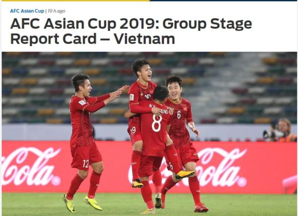 Tờ Fox Sports Asia đã có bài tổng kết về Việt Nam sau vòng bảng.