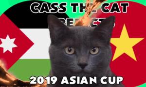 Mèo tiên tri nước Anh dự đoán Việt Nam thua Jordan