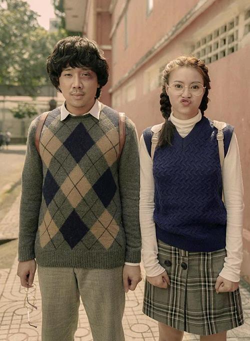 Trấn Thành tiết lộ tạo hình cực kỳ ngố tàu của anh và Lan Ngọc trong bộ phim sắp khởi chiếu.