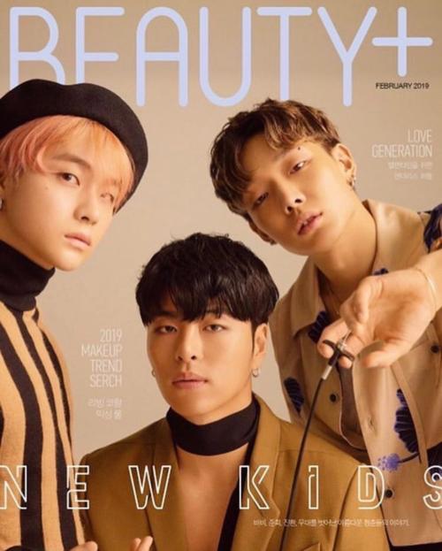 Jin Hwan, Jun Hoe và Bobby trên cover Beauty+.