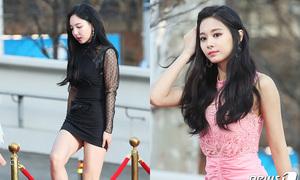 Thảm đỏ Gaon: Na Yeon, Mina diện váy 'nguy hiểm', Tzuyu khoe thân hình 'mỏng dính'