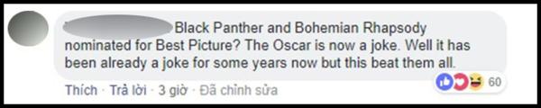 Black Panther và Bohemian Rhapsody được đề cử Phim hay nhất? Oscar thành trò đùa thật rồi. Ờ thì nó đã là trò đùa mấy năm nay rồi nhưng năm nay đã san bằng tất cả.