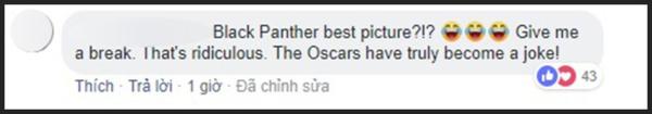 Black Panther là Phim hay nhất? Cho tôi nghỉ cái đã. Trời ơi tin được không? Oscar thực sự trở thành trò đùa của năm rồi.