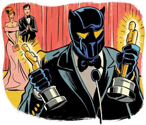 Tranh minh họa Black Panther nhận giải Oscar.