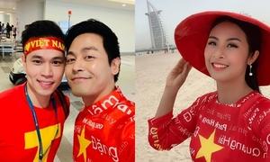 Dàn sao Việt tiếp lửa cho đội tuyển trước giờ đá tứ kết