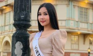 Bị chỉ trích vì thi 'chui', Ngân Anh vẫn vào top 3 bình chọn Miss Intercontinental