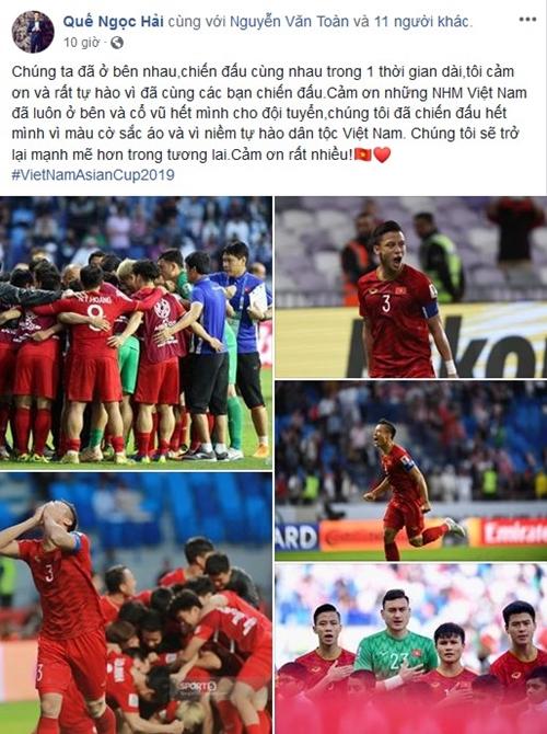 Chia sẻ đầu tiên của tuyển Việt Nam sau trận thua Nhật Bản đều nhận bão like