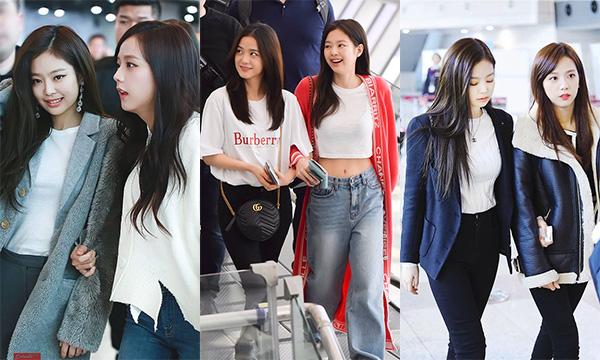 JenSoolà một trong những cặp đẹp đôi nhất ở sân bay. Jennie sang chảnh sánh đôi bên Ji Soo đẹp nữ tính. Các fan mãi tự hào về con thuyền JenSoo mãi bền vững bất chấp những tranh cãi trong fandom Black Pink.