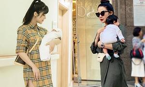 Diệp Lâm Anh thành 'mẹ bỉm sữa' vẫn mê hàng hiệu cực 'ngầu'