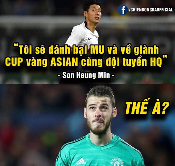 Son Heung Min bị chế ảnh xách va li về nước sau trận thua Qatar - 2