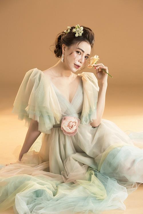 Bà mẹ đơn thân Trà Ngọc Hằng.