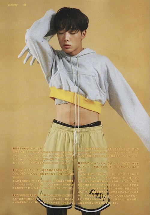 Bobby (iKON) mặc đồ thể thao nhưng bỗng yếu đuối vì chiếc áo crop top.