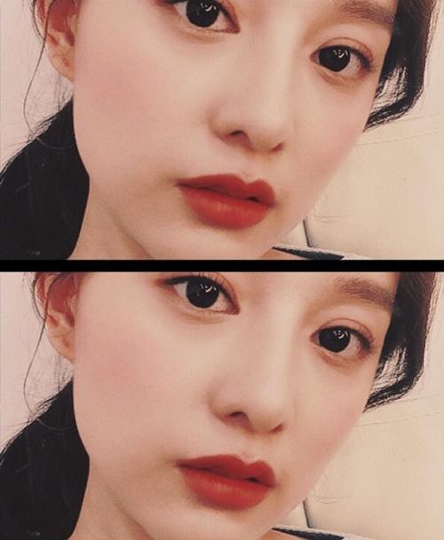Kim Ji Won đốn tim fan bằng đôi mắt to long lanh và môi đỏ quyến rũ.