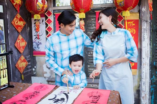 Ngọc Lan chia sẻ con trai chính là động lực để hai vợ chồng làm việc không biết mệt mỏi trong suốt năm qua.