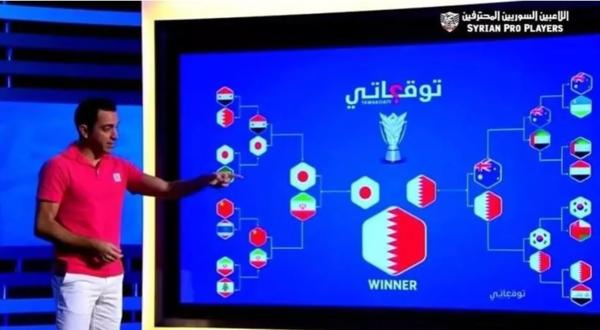 Xavi Hernandez dự đoán kết quả Asian Cup 2019trên kênh truyền hình Al Kass (Qatar).