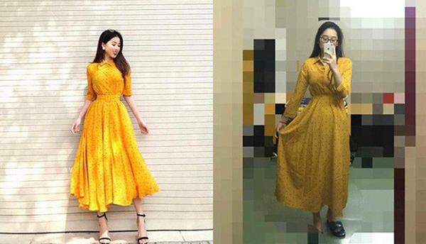Hình ảnh các shop đưa ra quảng bá thường đã qua chỉnh sửa ánh sáng, vóc dáng cho người mẫu, vì thế đẹp hơn đồ gốc là điều dễ hiểu.