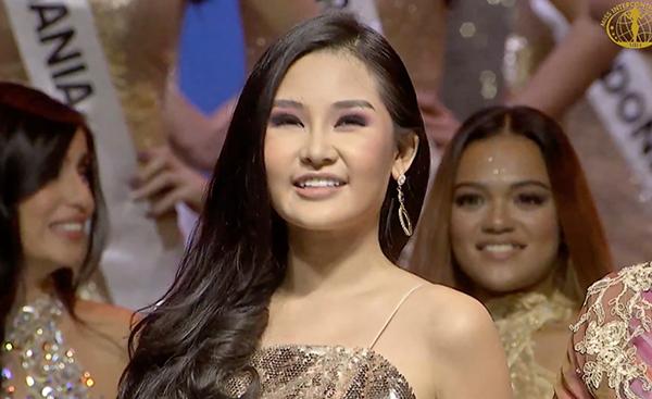 Ngân Anh tại Miss Intercontinental 2018.