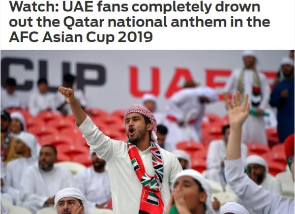 Fox Sports chỉ trích CĐV UAE la ó khi đội khách cử hành quốc ca.