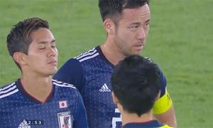 Tuyển Nhật Bản thất thần nhìn các cầu thủ Qatar ăn mừng ngôi vô địch