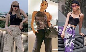 Style xuống phố những ngày giáp Tết của sao, hot girl Việt