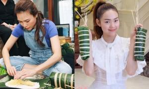 Mỹ Tâm, Minh Hằng và dàn sao Việt trổ tài gói bánh ngày Tết