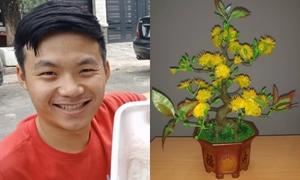 Nam sinh Phú Yên tái chế hoa mai từ vảy cá kiếm tiền triệu