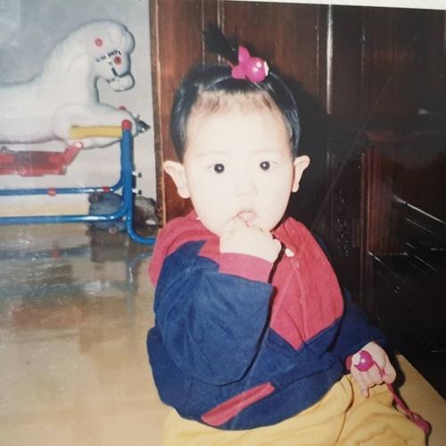 Chan Yeol khoe ảnh cột tóc xinh yêu ngày bé mừng năm mới.