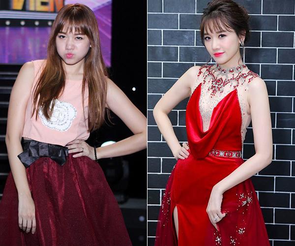 Cùng với việc giảm cân, phong cách ăn mặc thay đổi cũng giúp Hari Won khác biệt hoàn toàn so với trước đây. Bà xã Trấn Thành là một điểm sáng trên thảm đỏ Vbiz 2018.