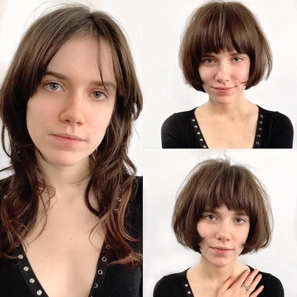 Kiểu tóc bob giúp khuôn mặt bạn trông nhỏ nhắn hơn.