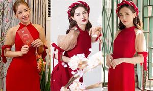 7 mỹ nhân Việt diện chung một mẫu áo dài sang chảnh đầu năm