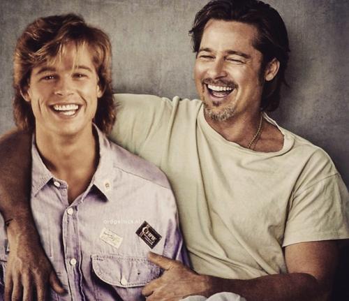 Trông Brad Pitt ở hiện tại đã thay đổi quá nhiều với quá khứ. Thủa xưa, anh là mẫu đàn ông mang gương mặt baby tóc vàng của Hollywood. Thế nhưng nhiều khán giả nhận xét, Brad Pitt của trung niên trông lại có sức hút hơn.