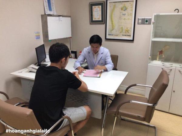 Tiền vệ Lương Xuân Trường kiểm tra y tế ở CLB Buriram United. Ảnh: CLB HAGL.