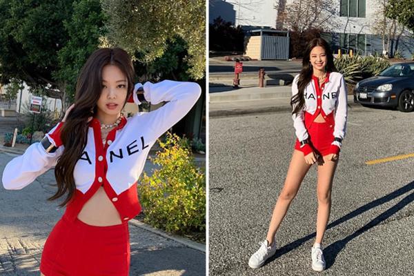 Các thành viên Black Pink đua nhau tung ảnh street style sành điệu ở Los Angeles. Cô nàng Jennie khoe thân hình cực phẩm trong bộ đồ Chanel bó sát gợi cảm.