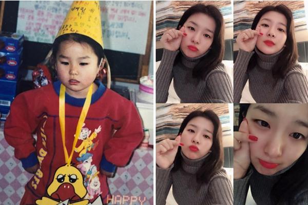 Seul Gi chia sẻ ảnh ngày ấy - bây giờ nhân dịp sinh nhật. Vẻ cute của thành viên Red Velvet
