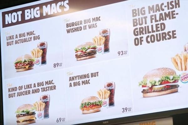 Menu toàn Big Mac, nhưng lại không phải Big Mac.
