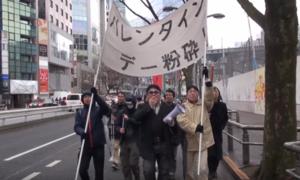 Hội trai Nhật FA diễu hành đòi 'hủy diệt' ngày Valentine