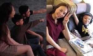 Đàm Thu Trang ngày càng thân với con riêng của Hồ Ngọc Hà